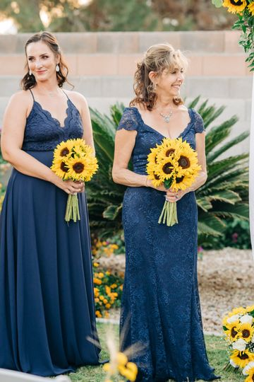 Sunflower bridesmaids