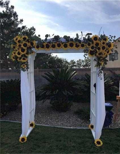 Sunflowers arch .