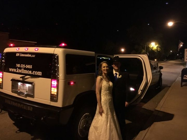 Bride getting out