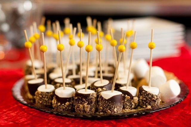 Fire Roasted S'mores Pops