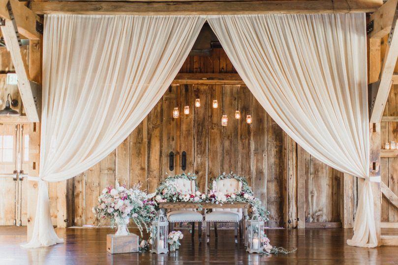 Sheer wedding setup