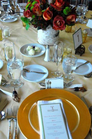 Table setting and menu