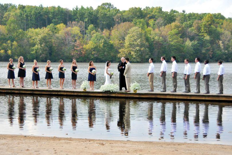 Trout lake retreats wedding invitations