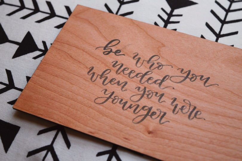 Custom quote printed on wood block -- great for a quote that is special to the couple, a bridal...