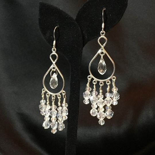 MY FAIR LADY EARRINGS Spectacular crystal chandelier earrings on a silver plate platform!  These...
