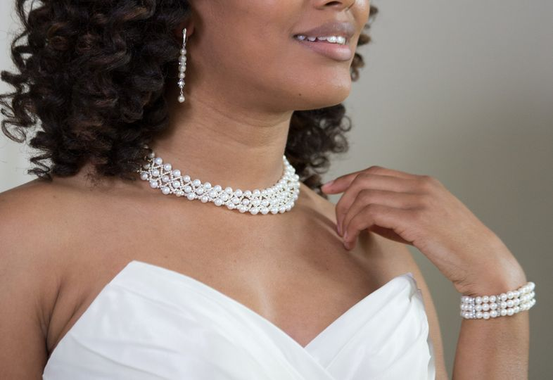 LACE NECKLACE - An exquisite lace-style collar necklace of pearls, silver seed beads and sterling...