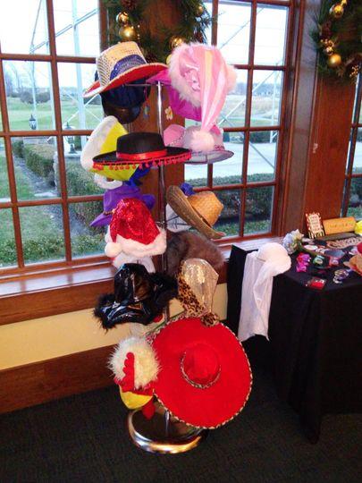 Hat Rack of props