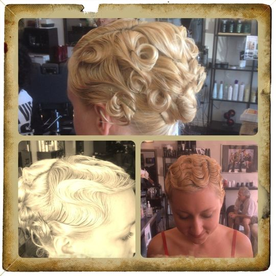 Finger waves for a classical up-do.