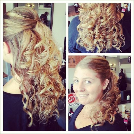 Beautiful curls and styles for that special day!