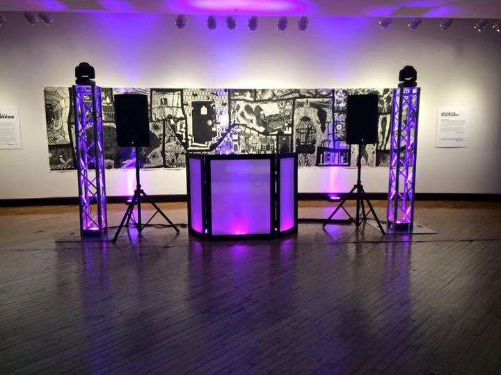 This is our setup at the Plains Art Museum
