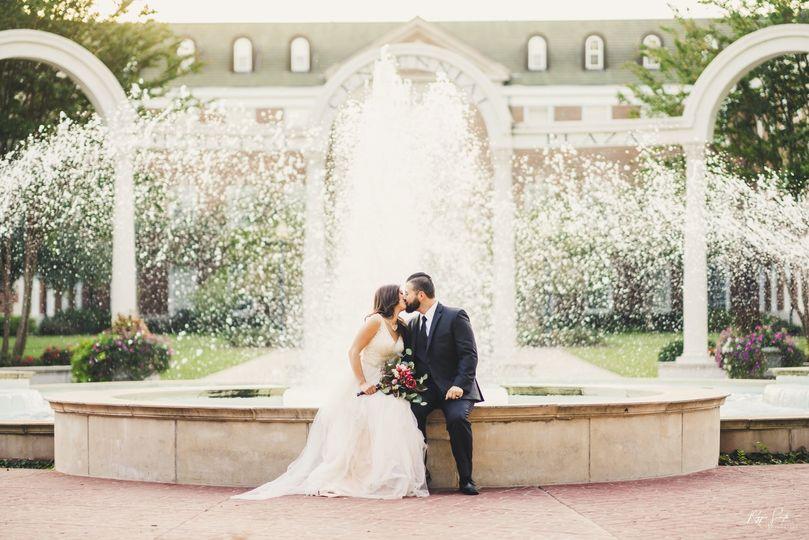 A kiss by the fountain (Conway, Arkansas)