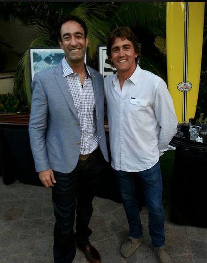 With Greg Long, Legendary Big Wave Surfer 2013 Waterman's Ball at the Ritz Carlton, Laguna Niguel.