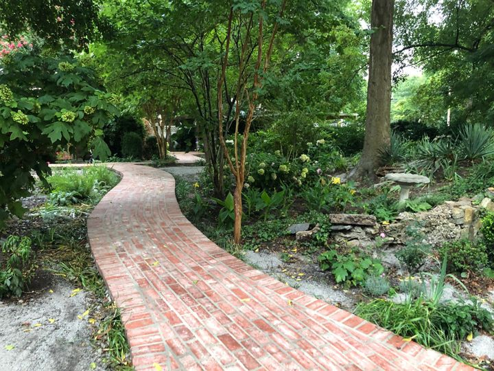 Brick pathways in the Garden