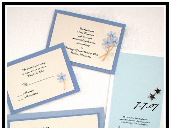 Tmx 1206751266825 BlueWebsite Long Lake wedding invitation