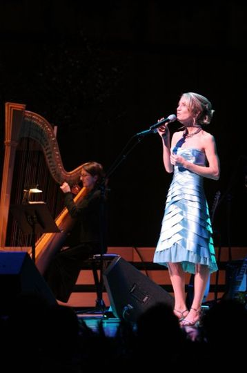 Heidi Joy singing at her 9th annual Holiday Joy Concert, held at the Holland Performing Arts Center,...