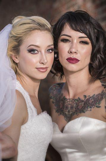 Brides in make-up
