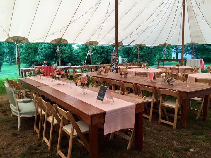 The long banquet table