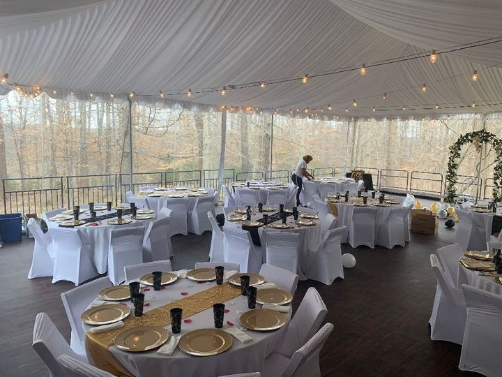 Tent Liner and Bistro Lights