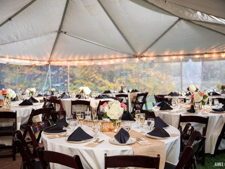 Tmx White Frame Tent With Perimeter Lights And Mahogany Resin Chairs 51 31450 158508368334552 Kensington, MD wedding rental