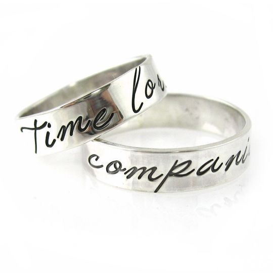 Nerdy wedding bands inspired by Doctor Who