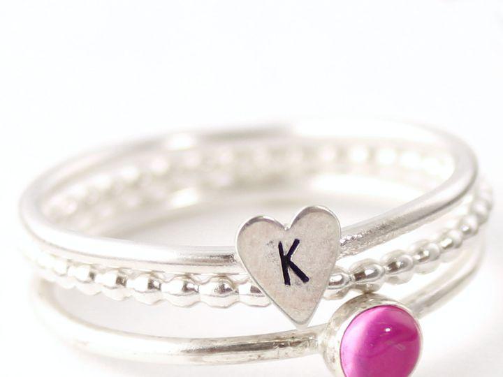 Tmx 1458675710920 Heart And Stone Stacking Ring Set 2 La Mesa wedding jewelry