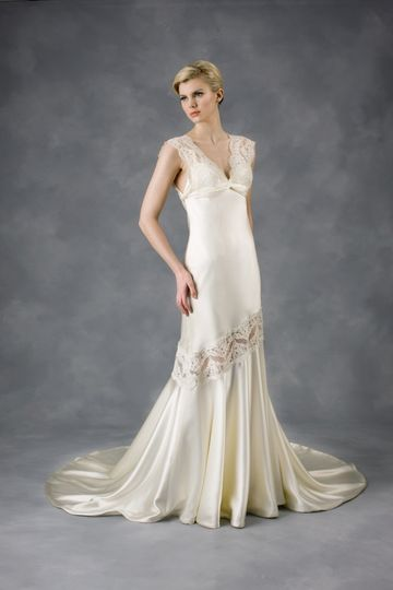 """""""Amelie II"""" beaded and embroidered sequin tulle strapless fit-and-flare gown."""