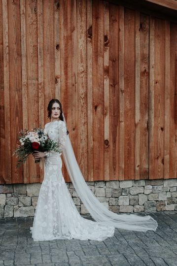 Bride full body shot