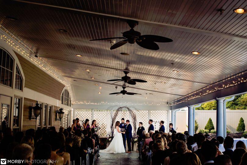 Year-round terrace ceremony