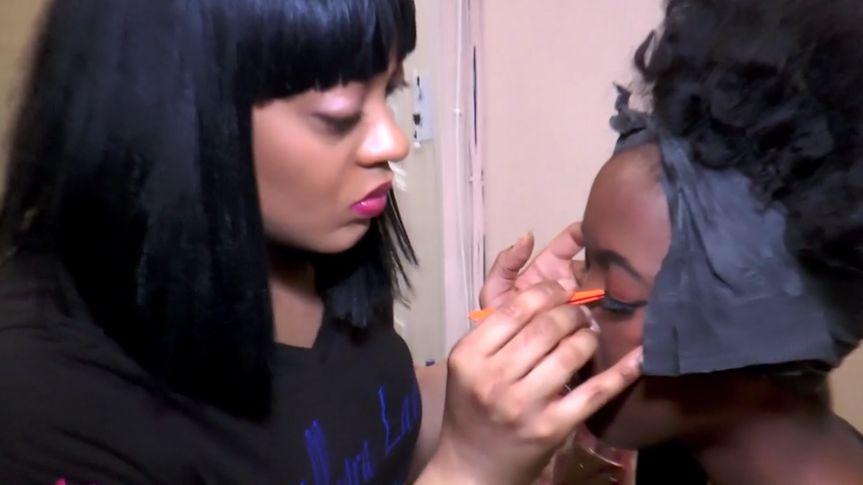 Adding eyelashes