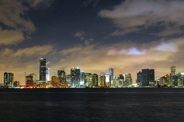 City lights view