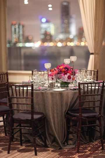 Chairs and table arrangement