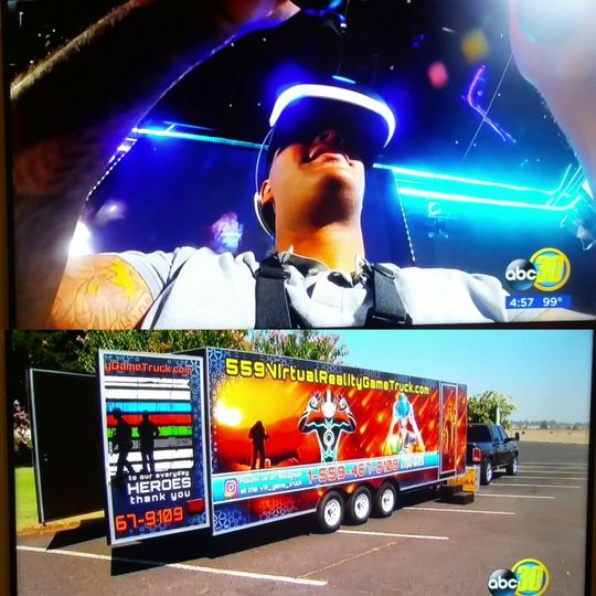 We were on ABC 30 showcasing our new trailer