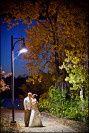 Couple under a street light