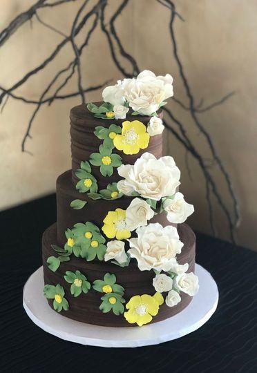 Alternative chocolate wedding cake