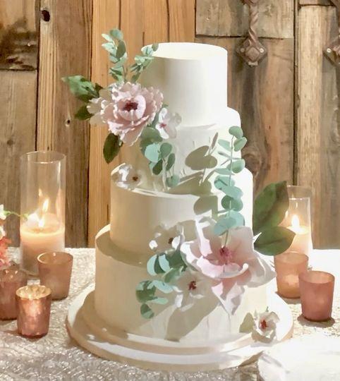 4 Tier Magnolia/Peony Wedding