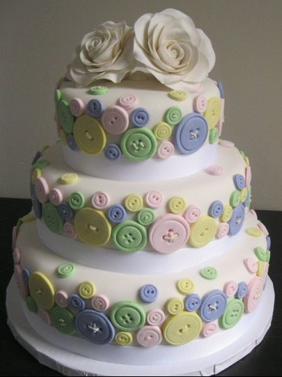 Buttons inspired cake