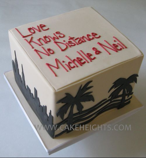 NYC and Miami cake