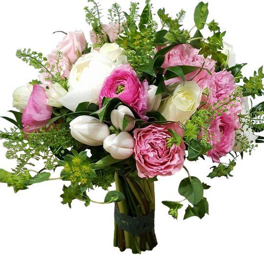 wedding pink field bouquet