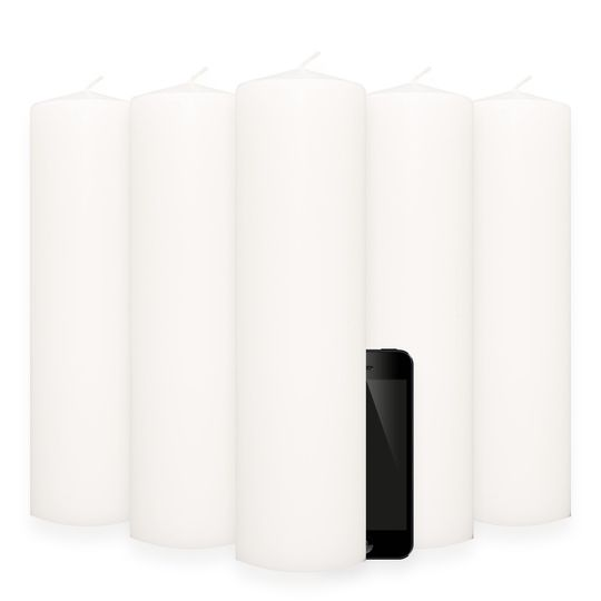 3 x 12 Inch White, Un-scented, Pillar Candles from Wholesale Candle Warehouse.  Our 3 x 12 Inch...