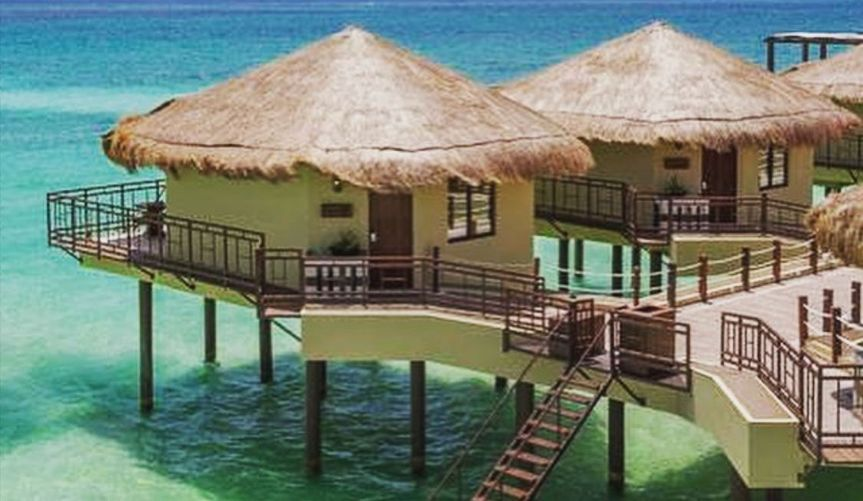 Over the water bungalows are located in a number of destinations