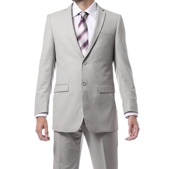 Light Grey Suit available at Bravo Suit and Tux