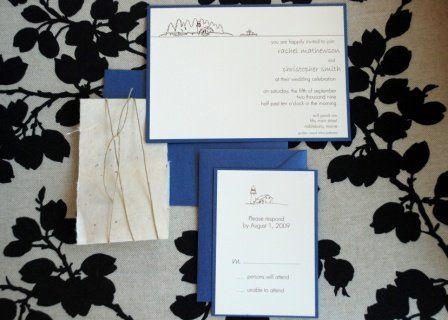 Custom Maine Invitation