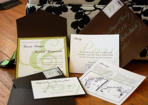 Custom Invitation Suite with map
