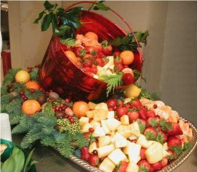Cascade of Fresh Fruit