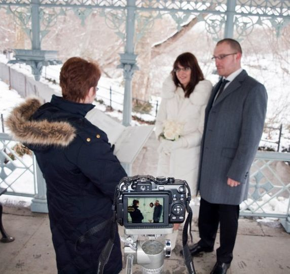 Winter snow wedding, Central Park NYC