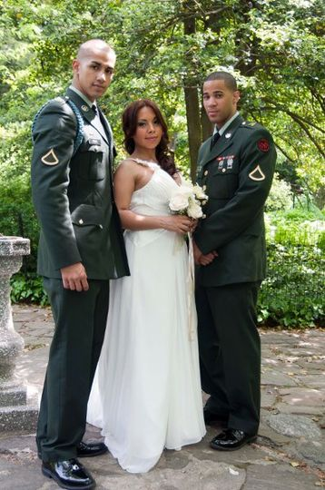 military wedding, Central Park NYC