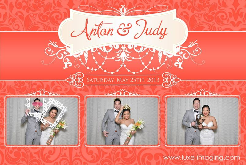 Anton and Judy's wedding photo booth