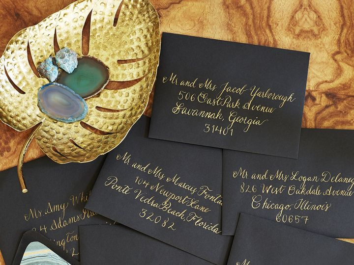 Tmx 1530823728 F7986fc53843771e 1530823726 D4ffd19de75b2f62 1530823720743 20 Black Gold Alexan Dallas wedding invitation