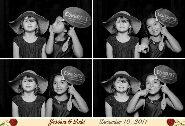 Flower girls in the photo booth
