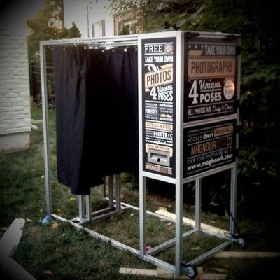 Classic booth in an outdoor setup
